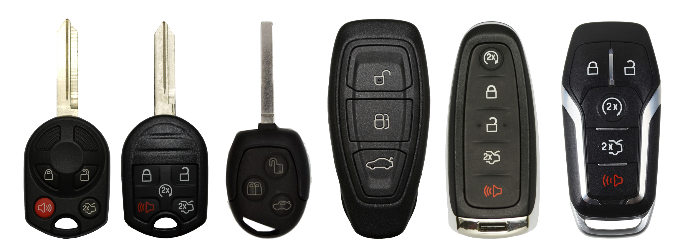 FORD Remote Key types Lost Keys to Ford Vehicles FORD Remote Key types