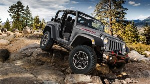 2014 Jeep Wrangler on the rocks