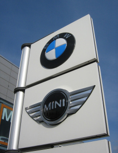 BMW and Mini dealership sign found on flickr